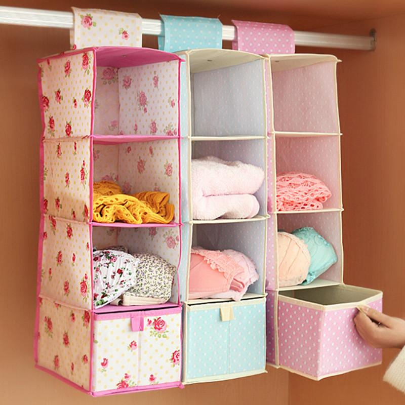 1 set High quality Foldable Multifunction Wardrobe hanging storage bag with drawer multilayer home decor,Free shipping.