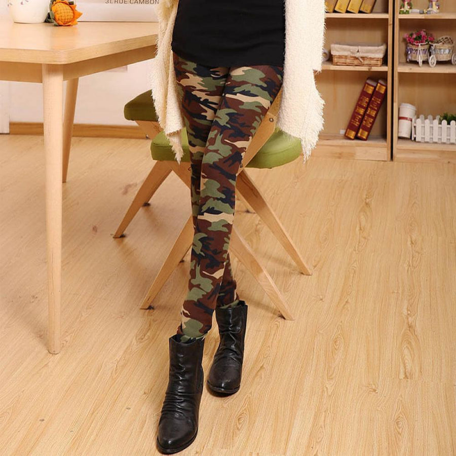 - 1PC Hot Sale New Fashion Sexy Womens Girls Camouflage Soft Stretch Army Green Trousers Autumn Winter Pants Leggings - Default Title  jetcube