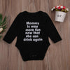 - 0-24M Newborn Baby Boy Girl Long Sleeve Letter Print Cotton Clothes Toddler Kids Jumpsuit One Pieces Outfits -   jetcube