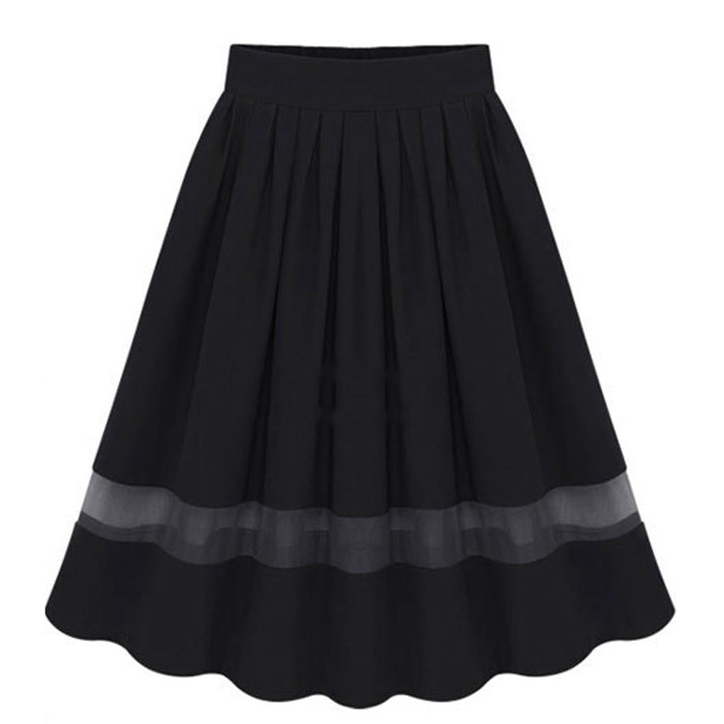 Spring&Summer Women Skirts Vintage Chiffon Pleated High Waist ...