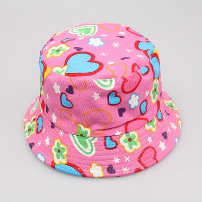 - 2-6T Baby Cartoon Print Bucket Sun Hat Floral Children Summer Panama Caps Baby Girls Fisherman Straw Hat Kids Boys Topee cap - 14  jetcube