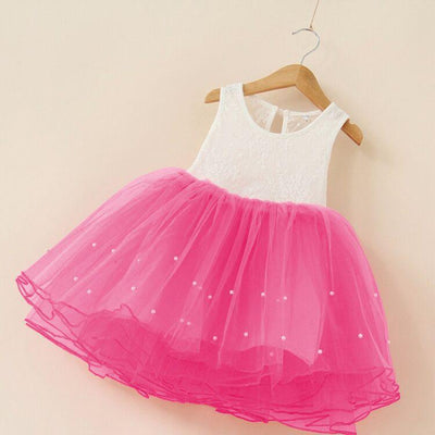 - 2-7Years Summer vestidos infantis Baby Dresses For Girl Party Dress Toddlers Tulle Princess Tutu Baptism Dresses Christmas - rose / 2T  jetcube