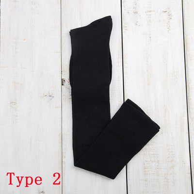 - 10 Solid Colors Long sexy Stockings Female Warm Thigh High Over the Knee Cotton Girls Ladies Women winter - black type2  jetcube