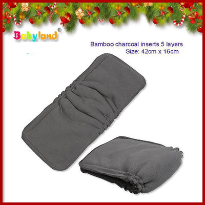 - (30 pieces/lot) Organic Bamboo Cotton / Charcoal Gussets Cloth Diaper Inserts Anti-leak Bamboo Diaper Liners . -   jetcube