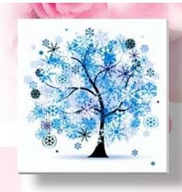 - % Flower arranging 5D diamond Painting flowers tree Cross Stitch diamond embroidery mosaic diamonds wall stickers home decor - Blue / 30*30cm  jetcube