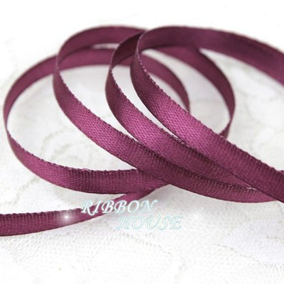 - (25 yards/roll ) 6mm Single Face Satin Ribbon Wholesale Gift Packing Ribbons -   jetcube