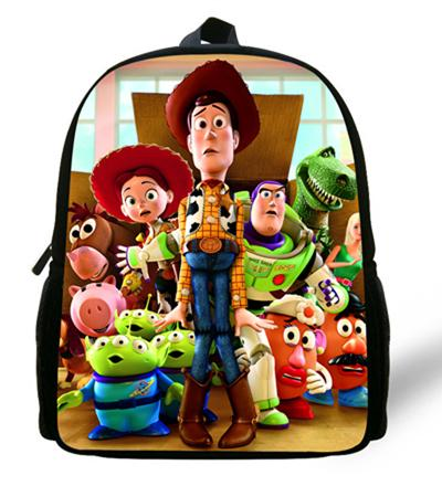 - 12-inch Childlike Toy Story School Bag Cute Buzz Lightyear Backpacks Toy Story Book Bags For Boys and Girl Aged 1-6. - Pink  jetcube