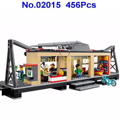 - 02015 456pcs City Series Train Station Lepin Building Block Compatible 60050 Brick Toy - Default Title  jetcube