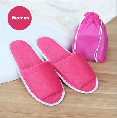 - 10 pairs\lot Men Travel Business Trip Hotel Club Portable Not Disposable Folding Slippers Boys Home Guest Slippers With Bag -   jetcube