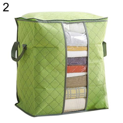 - 2016 Foldable Compact Clothing Quilt Storage Case Blanket Closet Sweater Organizer Box -   jetcube