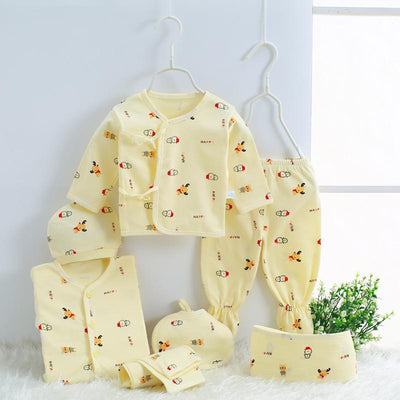 - 0-3M Newborn Infant Baby Girls boys Clothes Long-sleeved shirt,pants,hat,scarf 7pcs 5pcs Outfit Kids Clothing Set Factory cheap - 04 / 3M  jetcube