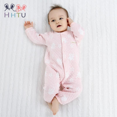 HHTU Baby Rompers Clothes Quilted Long Sleeve Clothing Jumpsuits Newborn Cotton Baby Girls Boys Autumn Spring Boneless Sewing