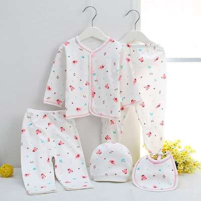 - 0-3M Newborn Infant Baby Girls boys Clothes Long-sleeved shirt,pants,hat,scarf 7pcs 5pcs Outfit Kids Clothing Set Factory cheap - 5PCS 09 / 3M  jetcube