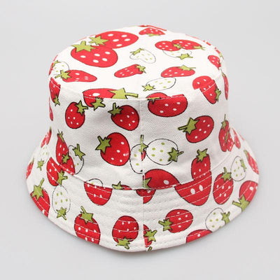 - 2-6T Baby Cartoon Print Bucket Sun Hat Floral Children Summer Panama Caps Baby Girls Fisherman Straw Hat Kids Boys Topee cap - 2  jetcube