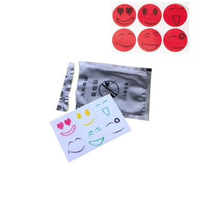 - 1000set 6pcs/set Hot Mosquito Repellent Patch Smiling Face Drive Midge Mosquito Killer Anti Mosquito Repeller Sticker ZA0937 -   jetcube
