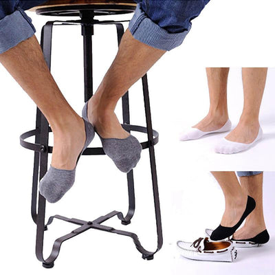 #4001 Fashion 1 pairs Shallow Mouth Motion Invisible Boat Cotton Slip Socks Best Selling - Jetcube