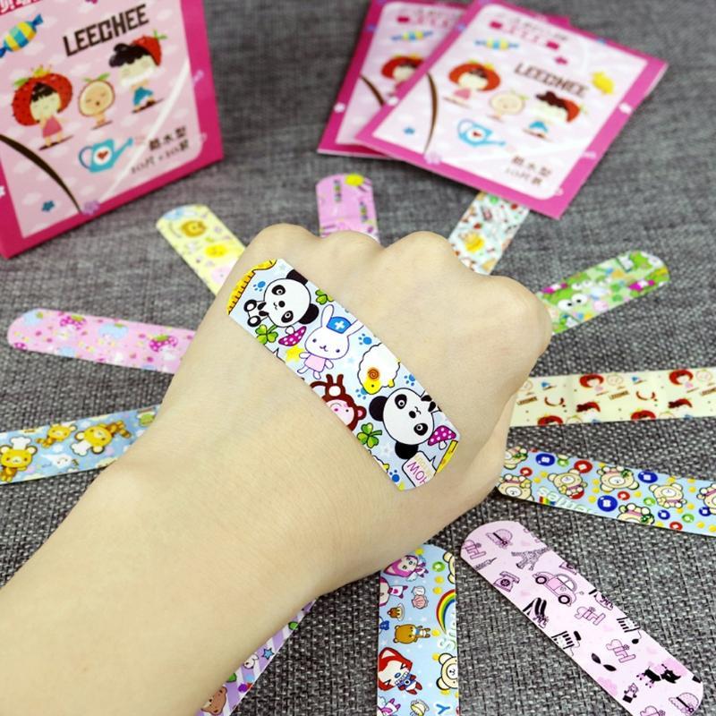 - 100Pcs Children Dreathable Waterproof Wound Patch Cartoon Waterproof Bandage Band-Aid Hemostatic Adhesive For Kids Children - Default Title  jetcube