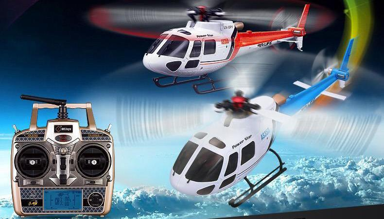 - (2 Batteries) WLtoys V931 6CH Flybarless Helicopter 2.4GHz 3-Blades Brushless Motor RTF VS XK K123 (In stock) -   jetcube