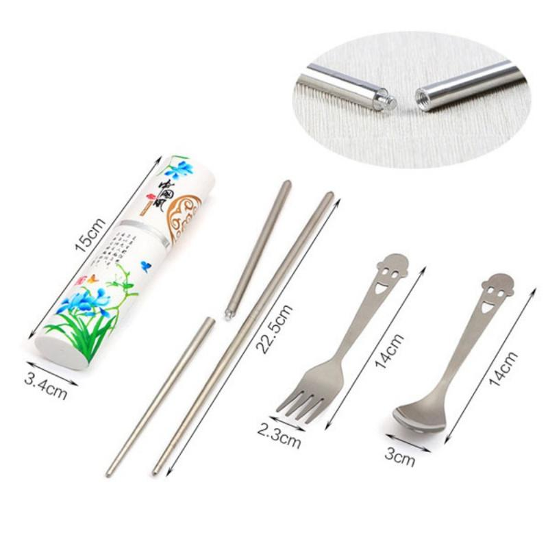 - 1 Sets Portable Travel Stainless Steel Tableware Dinner Vintage Fork 3in -   jetcube