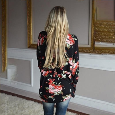 2017 Autumn cardigan Long sleeve knitted sweater women Floral Print Slim Shirt cardigan for women