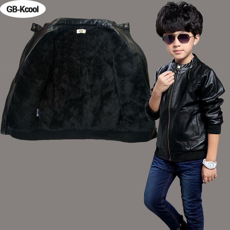 Children Boys Coat 2016 Children's Jacket Leather Fashion Baby Boy Spring Winter Coat Korean Boys PU Jackets Fit 3 ~15 Years Old  UpCube- upcube