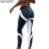 DAYSOFT Fitness Women Leggings Mesh Pattern Print Leggings Woman Sporting Workout Leggins Tayt Elastic Slim Black Pants Legins