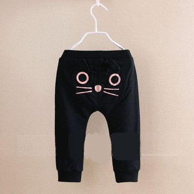 - 0-4Y Cute Cartoon Pattern Baby Pants Boys Girls Harem Pants Kids Long Pants Cotton Soft Owl Trousers Spring and Autumn Hot Sale - black / 12M  jetcube