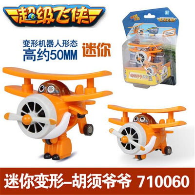 - (Lis)8 styles Super Wings Mini Planes Deformation Airplane Robot Action Changeable Toys action toy Super Wings - orange  jetcube