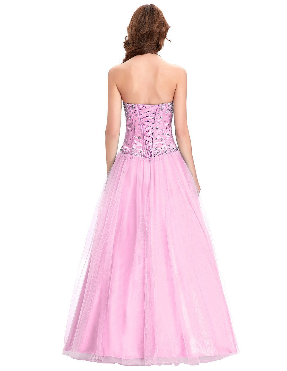 Free Shipping Blue White Pink Bridesmaid Dresses 2017 Crystal Tulle ...