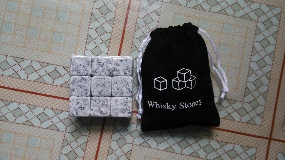 - ( 6pcs/set or 9pcs/set or 12pcs/set ) whisky stones with velvet bag ,beer stone,whiskey ice stone, whiskey stone free shipping -   jetcube