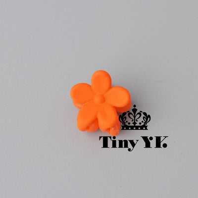 - 10 pcs New Fashion Baby Girls Small Hair Claw Cute Candy Color flower Hair Jaw Clip Children Hairpin Hair Accessories Wholesale - Orange  jetcube