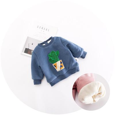 - 0-3 years New 2017 Wholesale Autumn Long Sleeve O-Neck Cactus Embroidery Kids Coats -   jetcube