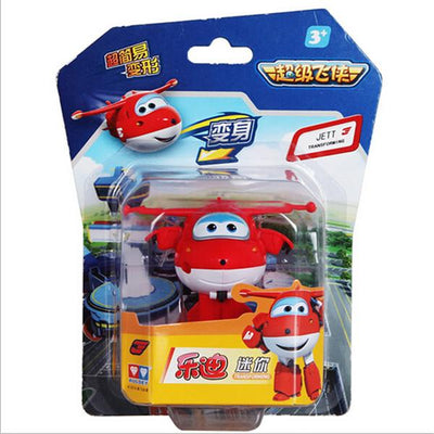 - (Lis)8 styles Super Wings Mini Planes Deformation Airplane Robot Action Changeable Toys action toy Super Wings - red  jetcube