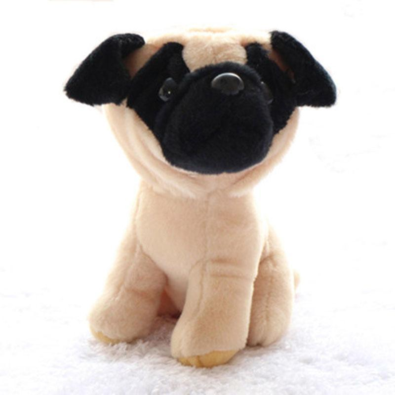 (1 Piece) 18CM Small Cute Dogs Plush Simulation Animals Stuffed Toys for Children Kids Gifts Puppy Pet Toy Basset Shar-pei pug