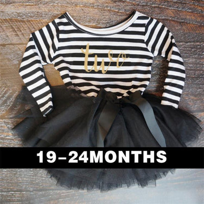- 0-2 Years Baby Princess Girl Dress One Piece For Toddler Girl Clothing Stripe Tutu Dress Children Casual Dresses Infant Clothes - A0250HI2  jetcube