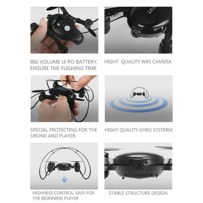 - 0.3MP HD Camera 2.4Ghz 4CH WIFI FPV RC Quadcopter Drone With Altitude Hold Dron 6-axis Gyro Helicopter Mini-Drone FY603 VS H37 -   jetcube