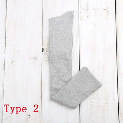 - 10 Solid Colors Long sexy Stockings Female Warm Thigh High Over the Knee Cotton Girls Ladies Women winter - Light gray type2  jetcube