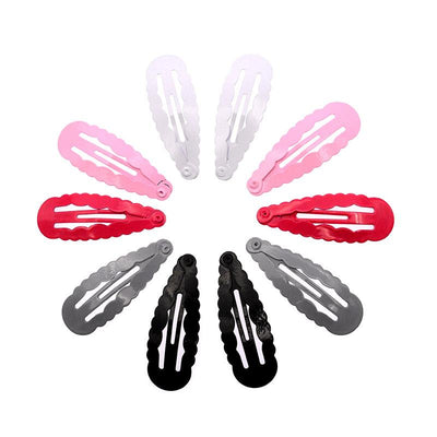 - 10 Pcs/lot Solid Candy Color Girls Hair Clips BB Clips Snap Band Hairpins Kids Hair Accessories - BL White  jetcube