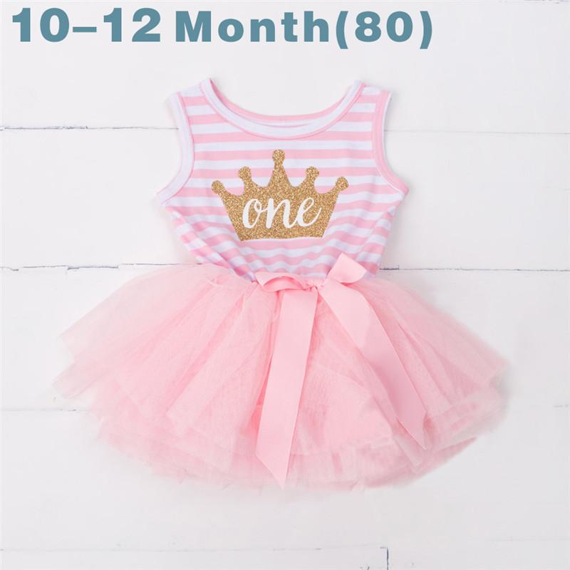 Ai Meng Baby Flower Girls Princess First Birthday Outfits One Two ...