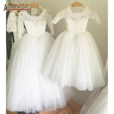 - 2016 Flower Girl Dress Lovely Puffy Ball Gown Girl Dress -   jetcube