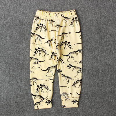- 0-24M Baby Boy Cartoon Animal Trousers Kids Newbron Dinosaur Leopard Print Infant Toddler Casual Loose Long Pant - TZ217YD / 12M  jetcube