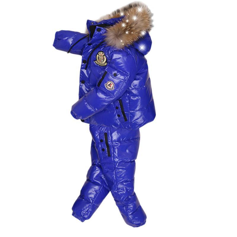 - -30Degrees Russia Winter Ski Jumpsuit Children Clothing Boys Girls Sport Suit Kids Snow Wear Jackets coats Bib pants Waterproof -   jetcube