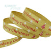 - (5 yards/lot) 3/8''(10mm) Gold printed grosgrain ribbons Merry Christmas satin ribbons wholesale -   jetcube