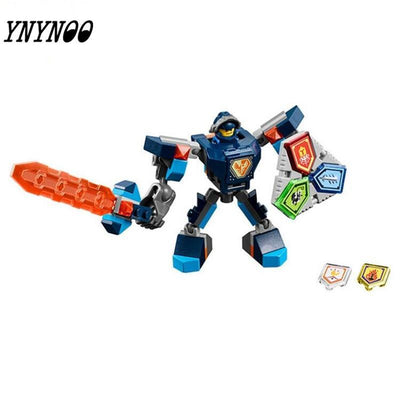 - (YNYNOO)10585 10586 10587 10588 10589 Nexus Knights Building Blocks set Macy Aaron AXL Lance Clay Battle Suit Kids bricks toys -   jetcube