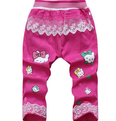 - (1piece /lot) 100% cotton 2015 new lucky trousers for children - Multi / 12M  jetcube