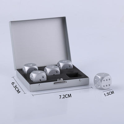 - *Aluminum Dice Shape Whiskey Stones Rocks for Drinks Whisky Beer Wine Cooler Bar Ice Cube Bucket Wine Holder Rack Mens Gifts -   jetcube