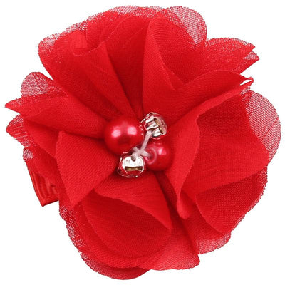 - 2.5 inch Pearl Diamond Headdress Flower Hair Accessories New Born Teens Girl Hairpin Children Fashion Elastic Hairclip Hairbow - 1  jetcube