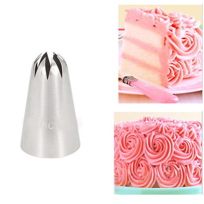 - #1C Large Cupcake Tips Cake Decorating Pastry Nozzles Baking Tools For Fondant Bakeware KH044 -   jetcube