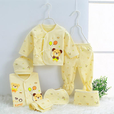 - 0-3M Newborn Infant Baby Girls boys Clothes Long-sleeved shirt,pants,hat,scarf 7pcs 5pcs Outfit Kids Clothing Set Factory cheap - 01 / 3M  jetcube