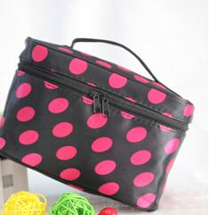 - !New Portable Type Bag Zipper Cosmetic Storage Make up Bag Jewelry bag Handle Train Case Purse Toiletry Pouch YA40-100 -   jetcube
